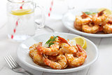 garlic shrimp, hawaiian food