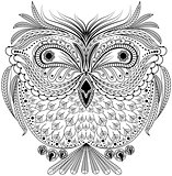 Monochrome abstract owl