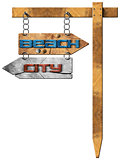 Beach and City - Directional Signs