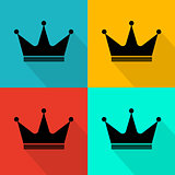 Flat crown icon.
