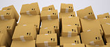 Carton boxes stacking