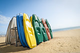 beach canoes