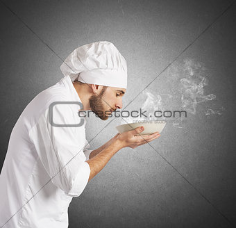 Smelling the aroma