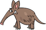 aardvark animal cartoon illustration