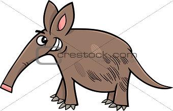 aardvark animal cartoon illustration