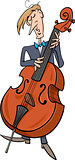 contrabass musician cartoon