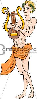 greek god apollo cartoon illustration