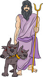 greek god hades cartoon illustration