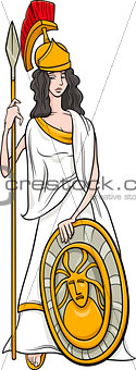 greek goddess athena cartoon