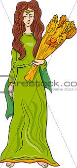 greek goddess demeter cartoon