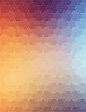 Orange Violet polygonal background for web design
