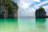 Andaman Sea beach on PhiPhi island, Turistic paraise in Thailand