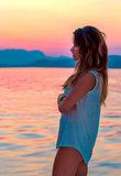 Enjoying beautiful sunset