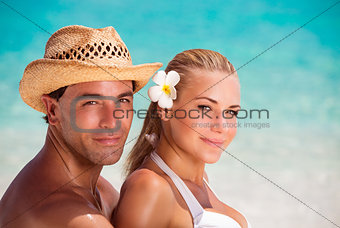 Portrait of lovers on the beach
