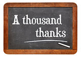 A thousand thanks on blackboard