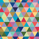 Seamless retro pattern of geometric shapes. Colorful mosaic backdrop.