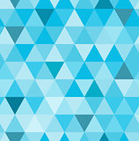 Seamless retro pattern of geometric shapes. Blue mosaic backdrop.