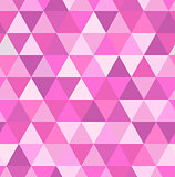 Seamless retro pattern of geometric shapes. Pink mosaic backdrop.