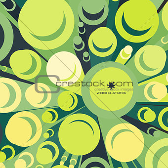 3d background, cylinders. Vector illustration.
