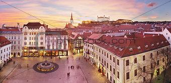 Bratislava Panorama - Main Square