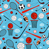 pattern of sporting goods