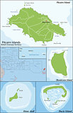 Pitcairn Islands map