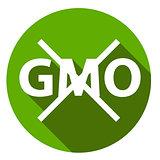 Editable GMO-free flat sign