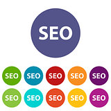 Seo web flat icon