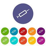 Syringe flat icon
