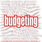 Budgeting word cloud
