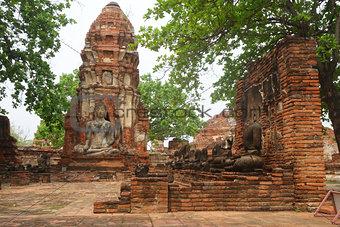 Ancient Buddha statue at Wat Yai Chaimongkol