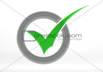 Green check mark with circle