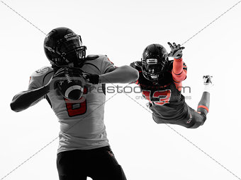 american football player quarterback sacked silhouette