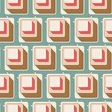 Retro seamless tile pattern background