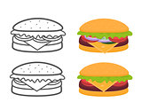 Hamburger and attributes