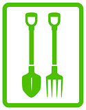 garden landscaping tools icon