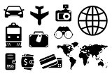 set black objects for business traveling