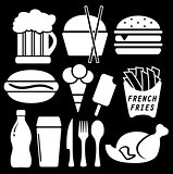set fast food isolated icon