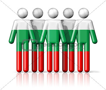 Flag of Bulgaria on stick figure