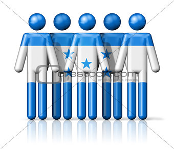 Flag of Honduras on stick figure