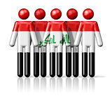 Flag of Iraq on stick figure