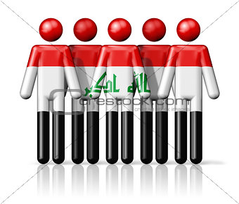 Flag of Iraq on stick figure