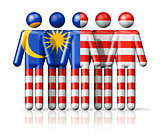 Flag of Malaysia on stick figure