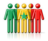 Flag of Senegal on stick figure