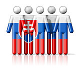 Flag of Slovakia on stick figure