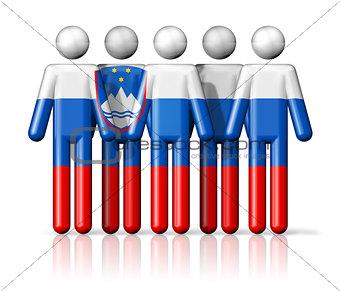 Flag of Slovenia on stick figure
