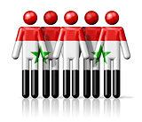 Flag of Syria on stick figure