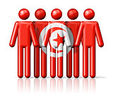 Flag of Tunisia on stick figure