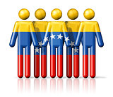 Flag of Venezuela on stick figure
