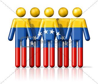 Flag of Venezuela on stick figure